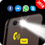 Flash on Call and SMS: Automatic Bright flashlight for pc logo