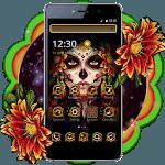 Black Floret Skull Theme icon