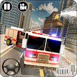 Heavy Ladder Fire Truck City Rescue 2019 icon