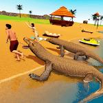 Komodo Dragon Family Sim: Beach & City Attack for pc logo