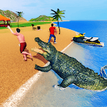 Crocodile Simulator 2019: Beach & City Attack for pc logo