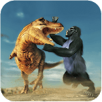 Gorilla Battle: Dinosaur World Survival icon