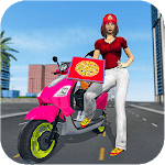 Moto Bike Pizza Delivery 2019 – Girl Food Game icon