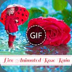 Rose Rain GIF icon