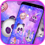 Colorful Cartoon Lovely Animal Emoji Theme icon