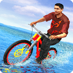 Waterpark Bicycle Surfing - BMX Cycling 2019 icon
