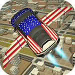 Free Flying Racing Car Driving icon