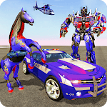 Multi Robot Transforming : Wild Horse Police Car icon