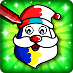 Christmas Coloring Book & Games for kids & family for pc logo