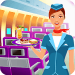 Flight Attendant Air Hostess - Cabin Crew Girl icon