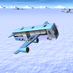 Winter Bus Flying icon