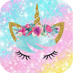 kawaii unicorn wallpaper - cute backgrounds icon