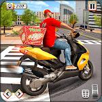 Pizza Delivery Boy Driving Simulator : Bike Games icon
