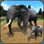 Wild Elephant Family Simulator icon