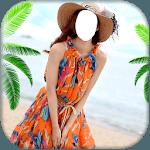 Women Beach Dress Suit icon