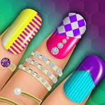 Girly Nail Salon: Mani Pedi & Nail Art Designs icon
