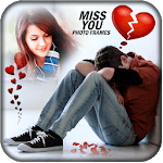 Miss You Photo Frames FREE icon