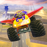 Offroad Flying Monster Truck Driving icon