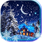 Snow Winter Night live wallpaper for pc logo