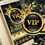 Gold Black Crown VIP Theme icon