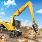 Heavy Bulldozer Crane Drill Stone icon