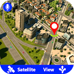 GPS Satellite Live Maps Navigation & Direction icon