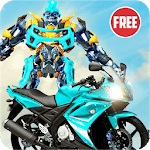US Robot Bike Transform Shooting Game icon