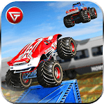 US Monster Truck Driving: Impossible Truck Stunts for pc logo