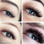 Eyelash extensions icon