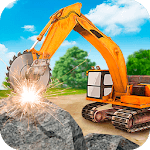 Heavy Excavator  Stone Cutter Simulator icon