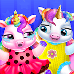 Twin Baby Unicorn Daycare - Care & Dress Up icon