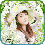 photo collage - flower frame icon