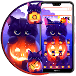 Dark Halloween Cat Theme icon
