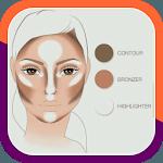 Tutorial on makeup contours icon