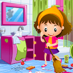 Princess Doll House Cleaning Game for Girls for pc logo