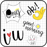 Cute Word Doodle Emoji Stickers icon