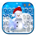 Blue Christmas1 Keyboard Theme icon