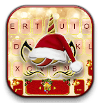 Christmas Unicorn Keyboard Theme icon