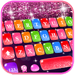 Colorful Glitter Keyboard Theme for pc logo
