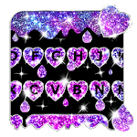 Galaxy Liquid Droplet Keyboard Theme icon