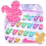 Girly Glitter Minny Keyboard Theme for pc logo
