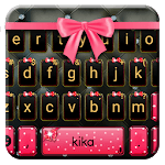 Girly Pink Bow Keyboard Theme icon