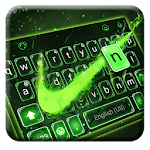 Green Neon Check Keyboard Theme icon
