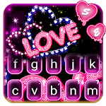 Neon Love Keyboard Theme icon