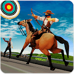 Highway Archer Run- Street Horse running games icon