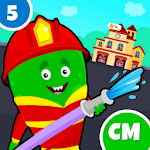 My Monster Town - Fire Station Games for Kids icon