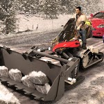 Snow removal plow Bike Excavator Ride Rescuers icon
