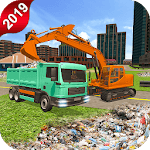 Off-Road Garbage Excavator Sim-City Clean Mission icon