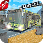 US City Army Coach Bus Simulator 3D 2019 icon