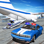 US Police Plane Transporter Game 2019 icon
